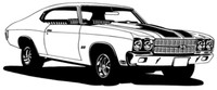 "70 Chevelle Decal BCC Classic Cars Large 12"" Window Stickers"