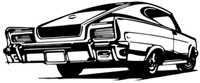 """66 Rambler Decal BCC Classic Cars Large 12"""" Window Stickers"""