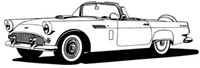 56 T-Bird Decal BCC Classic Cars Vinyl Window Stickers