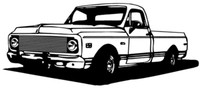 "1972 Chevy Truck Decal BCC 12"" Vinyl Antique Classic Stickers"