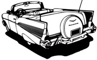 1957 Chevy Conv. BCC Antique Car Decal, 12""