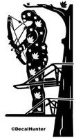 Bowhunting Decal #2 Bowhunter and Deer Truck Decals