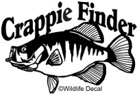 Crappie Decals and Window Stickers