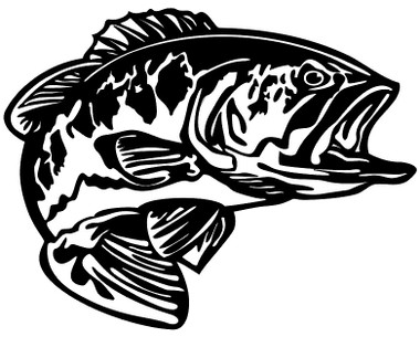 Bass Decals and Bass Stickers. Personalize any of our fishing decals with your choice of text, color and size.These are perfect for trucks, cars, windows, gun cabinets, 4-wheelers, boats, mailboxes or any clean semi-smooth surface. Show your passion for bass fishing.