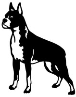 Boxer Bull Dog Decals and Car Stickers. Personalize any of our wildlife decals with your choice of text, color and size. These stickers are great for trucks, cars, windows, gun cabinets, 4-wheelers, boats, mailboxes or any clean semi-smooth surface. Show your passion for your pet.