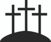 3 Cross Religion Decals and Car Stickers. Personalize any of our decals with your choice of text, color and size. These stickers are great for trucks, cars, windows, gun cabinets, 4-wheelers, boats, mailboxes or any clean semi-smooth surface. Show your passion for the Christians.
