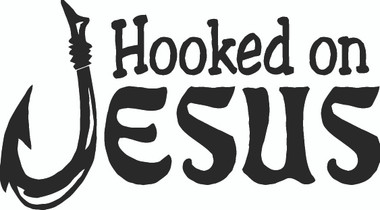 Hooked On Jesus Decals and Car Stickers. Personalize any of our decals with your choice of text, color and size. These stickers are great for trucks, cars, windows, gun cabinets, 4-wheelers, boats, mailboxes or any clean semi-smooth surface. Show your passion for the Christians.