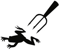 Frog Gigging Decal MD Boat, Truck, Window Graphics, Vinyl Stickers