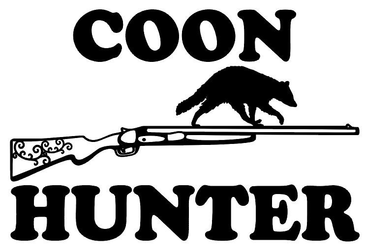 Coon Hunter Decal Md 49 Decal Coon Hunting Window