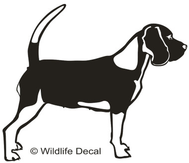 Awesome Beagle Decals and Window Stickers.