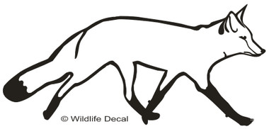 Fox Decal SHOWN IN BLACK