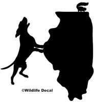 Squirrel Hunting Illinois State Decal, Wildlife Hunting Sticker