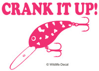 Crank It Up MD Decal Fishing Crankbait Sticker