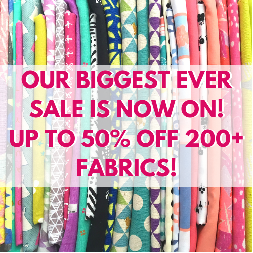 Up To 50% Off Over 200 Fabrics in Our Biggest Ever Sale