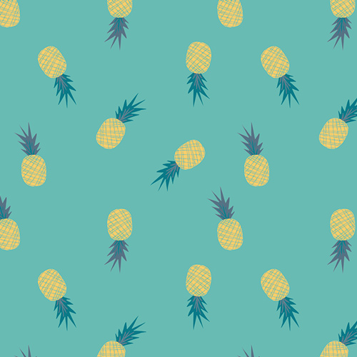 Ananas Aqua from the Sirena collection by Art Gallery Fabric. 100% Cotton Quilting Fabric