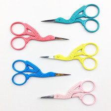 Snipsters Stork Embroidery Scissors in Various Colours