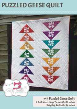 Puzzled Geese Quilt Pattern by The Crafty Nomad