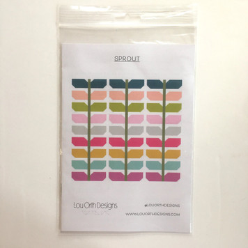 Sprout Quilt Pattern by Lou Orth Designs Front