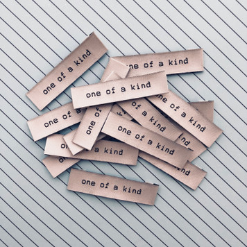 """One Of A Kind"" Sew-In Clothes Label (Pack of 8) By Kylie and The Machine"