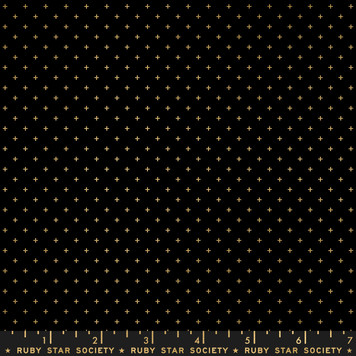 Black Gold Metallic from the Add It Up collection by Ruby Star Society. 100% Lightweight Cotton
