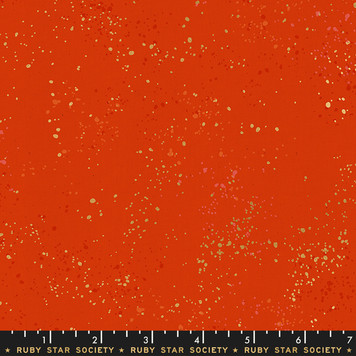 Speckled in Warm Red by Ruby Star Society. 100% Lightweight Cotton