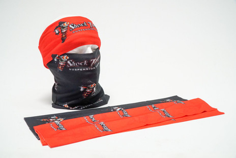 Shock Therapy face masks are available in black or red