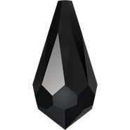 Swarovski Pendant 6000 - 13x6.5mm, Jet (280), 6pcs