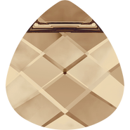 Swarovski Pendant 6012 - 11x10mm, Crystal Golden Shadow (001 GSHA), 4pcs