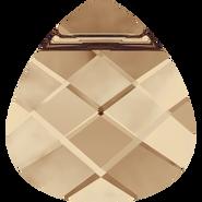 Swarovski Pendant 6012 - 15.4x14mm, Crystal Golden Shadow (001 GSHA), 2pcs