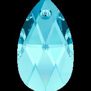 Swarovski Pendant 6106 - 22mm, Aquamarine (202), 2pcs