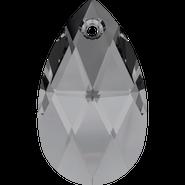 Swarovski Pendant 6106 - 22mm, Crystal Silver Night (001 SINI), 2pcs