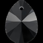Swarovski Pendant 6128 - 10mm, Jet (280), 6pcs