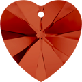 Swarovski Pendant 6228 - 10.3X10mm, Crystal Red Magma (001 REDM), 6pcs