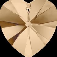 Swarovski Pendant 6228 - 14.4x14mm, Crystal Golden Shadow (001 GSHA), 2pcs