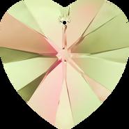 Swarovski Pendant 6228 - 18x17.5mm, Crystal Luminous Green (001 LUMG), 2pcs
