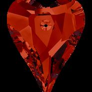 Swarovski Pendant 6240 - 12mm, Crystal Red Magma (001 REDM), 4pcs