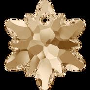 Swarovski Pendant 6748 - 14mm, Crystal Golden Shadow (001 GSHA), 2pcs