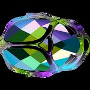 Swarovski Bead 5728 - 12mm, Crystal Scarabgre (001SCGR), 4pcs