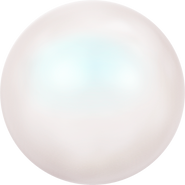 Swar Crystal Pearl 5818 - 10mm, Pearlescent White (969), Half Drilled, 4pcs