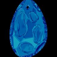 Swarovski Pendant 6730 - 18x11.5mm, Bermuda Blue (001BB), 1pc