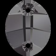 Swarovski 3224 - 23x18mm, Crystal Silver Night (001 SINI) Unfoiled, 1pcs