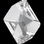 Swarovski Sew-on 3265 - 26x21mm, Crystal (001) Foiled, 1pcs