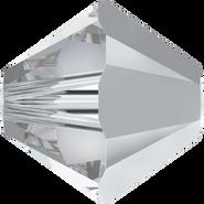 Swarovski Bead 5328 - 4mm, Crystal Comet Argent Light (001 CAL), 48pcs
