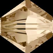 Swarovski Bead 5328 - 4mm, Crystal Golden Shadow (001 GSHA), 48pcs