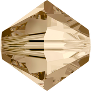 Swarovski Bead 5328 - 8mm, Crystal Golden Shadow (001 GSHA), 12pcs