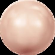 Swarovski Crystal Pearl 5810 - 8mm, Crystal Rose Gold Pearl (001 769), 50pcs