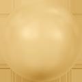 Swar Crystal Pearl 5817 - 12mm, Gold (296), Half Drilled, 4pcs