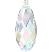 Swarovski Pendant 6010 - 11x5.5mm, Crystal Aurore Boreale (001 AB), 4pcs