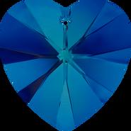 Swarovski Pendant 6228 - 18x17.5mm, Crystal Bermuda Blue (001 BBL), 2pcs