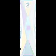 Swarovski Pendant 6465 - 25x7mm, Crystal Aurore Boreale (001 AB), 1pcs